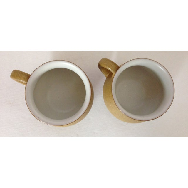 Image of Mid-Century 1960s Denby Yellow Mugs - A Pair