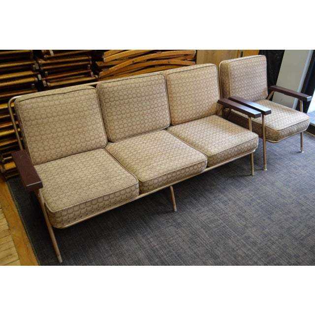 Image of Mid-Century Sofa With Matching Lounge Chair