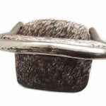 Image of Vintage Stools - Chrome & Hide - a Pair