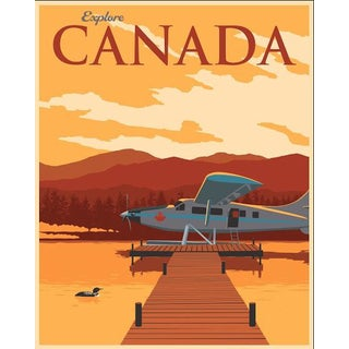 Illustrative Canadian Travel Poster