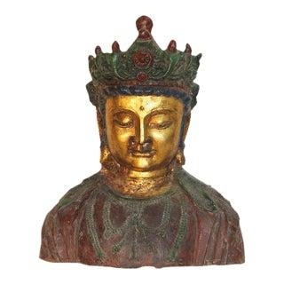 Metal Multi-Colored Kwan Yin Bust