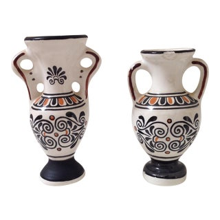 Small Greek Ceramic Vases - A Pair