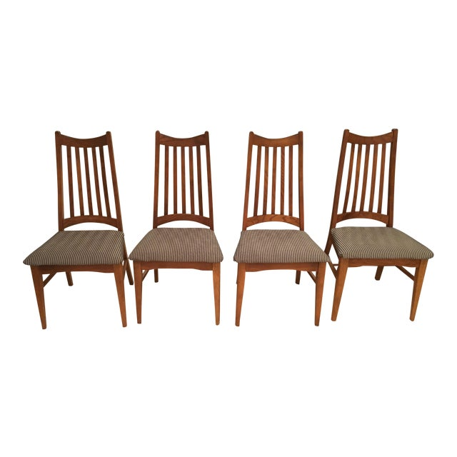 Mid-Century Modern High Back Dining Chairs - Set of 4 - Image 1 of 10