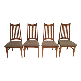 Mid-Century Modern High Back Dining Chairs - Set of 4