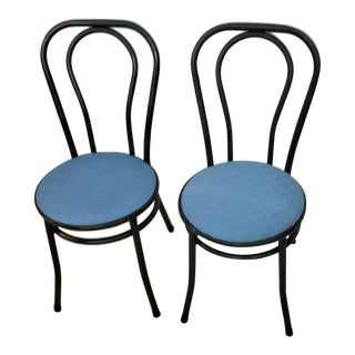 Tubular Steel Café Chairs In The Style of Michael Thonet– A Pair