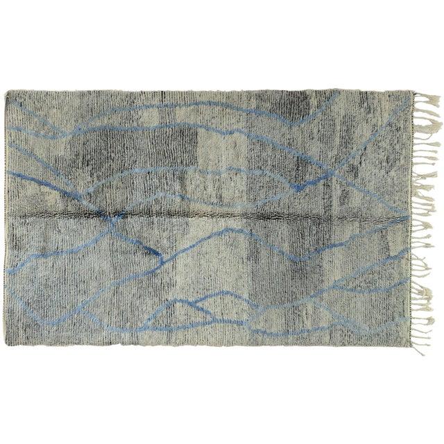 Moroccan Gray Blue Rug