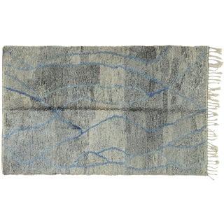 Moroccan Gray Blue Rug - 5′11″ × 9′10″