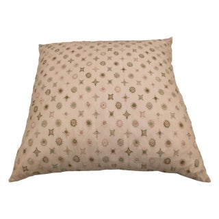 Large Euro Embroidered Pillow