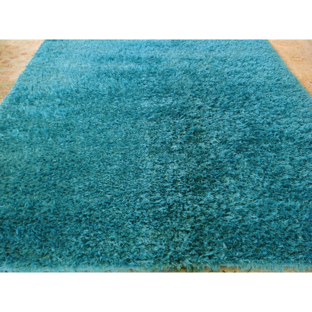 Turquoise Contemporary Shag Rug Chairish