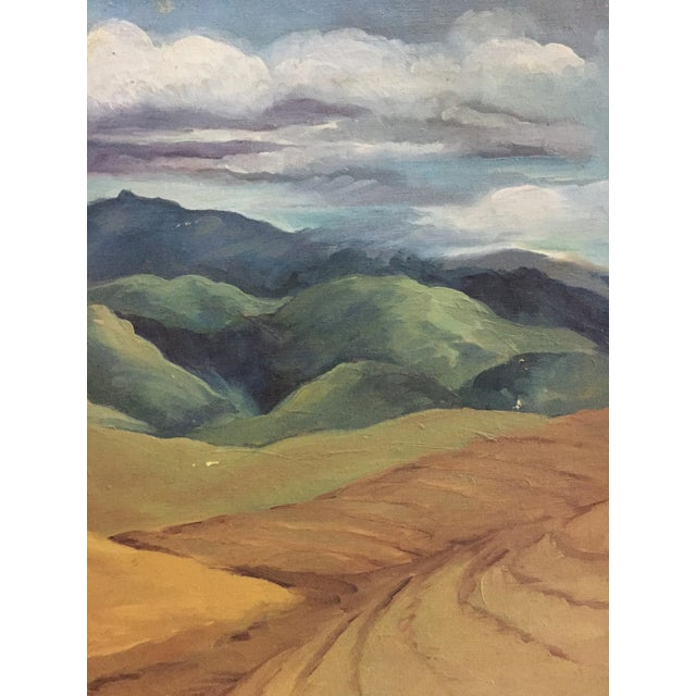 Mid-Century California Gold Will Frates Painting - Image 5 of 5