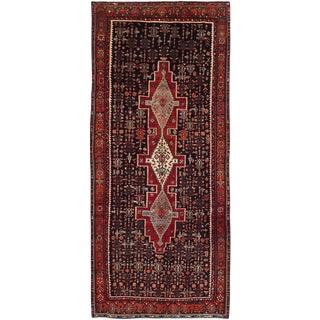 """Vintage Persian Senneh Rug- 4'4"""" x 10'"""