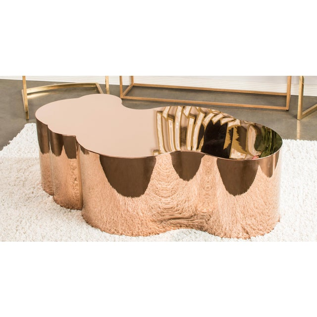 Luca Rose Gold Coffee Table - Image 2 of 5