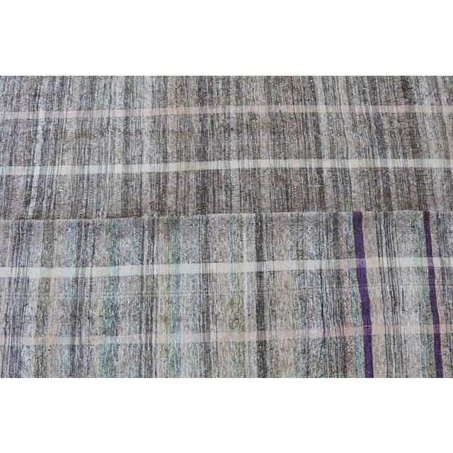 """Vintage Turkish Handmade Flatweave Rug - 6'5"""" X 8' - Image 5 of 5"""