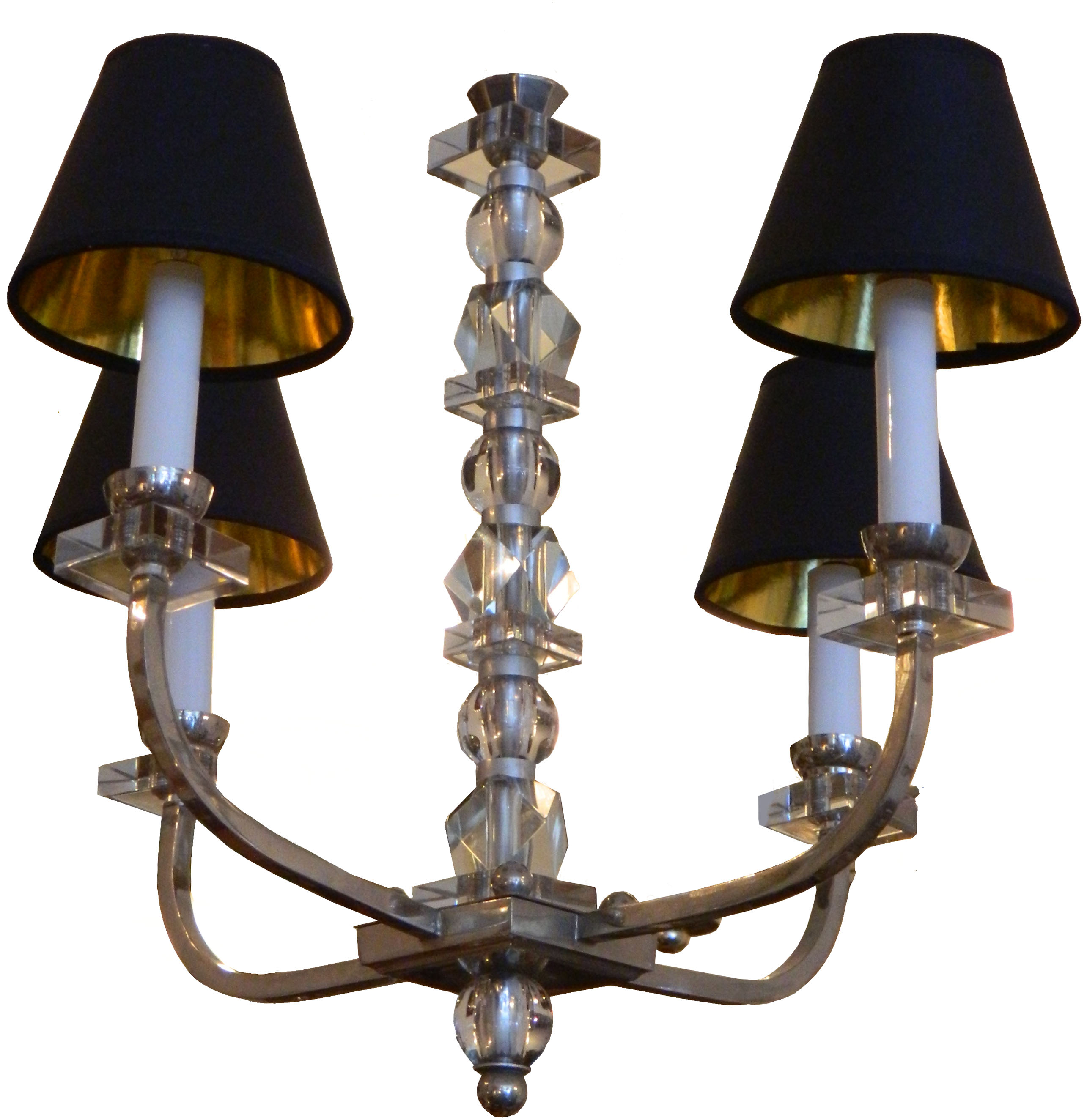French Vintage Jacques Adnet Chandelier Chairish