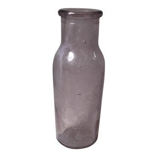 Antique Glass Purple Bottle