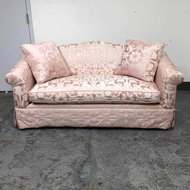Custom Designed Upholstered Silk Sofa Chairish