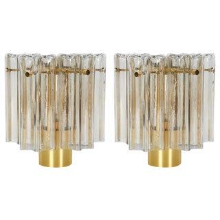 Pair of Mid-Century Modern Venini Glass Sconces by Limburg