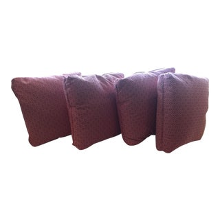 Transitional Red Scalmandre Pillows - Set of 4