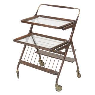 Cesare Locca Style Italian Modern Bar Cart