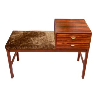 Swedish Rosewood Bench Chest, Circa 1960