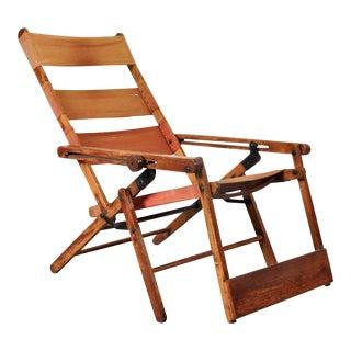 Rare Thonet Deck Chair Model 480, circa 1930