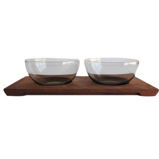 Mid-Century Serving Bowls & Tray