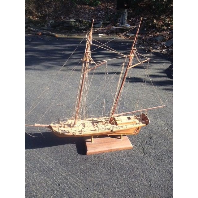 Wood Model Boat - Image 2 of 10