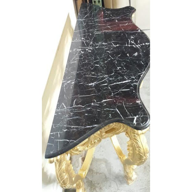 Image of French Style Marble Top Console Table