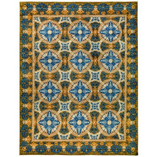 "Suzani, Hand Knotted Area Rug - 9'2"" X 11'8"""