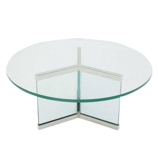 Pace Chrome & Glass Coffee Table Base