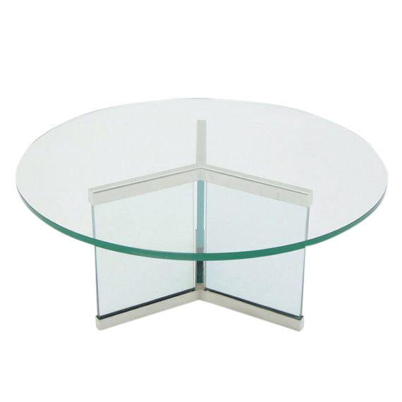 Image of Pace Chrome & Glass Coffee Table Base