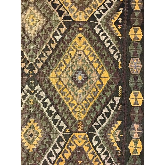 Image of Vintage Anatolian Kars Kilim Rug - 4′8″ × 14′8″