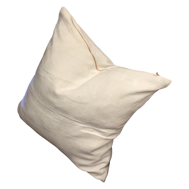 Image of Vintage Linen Pillow Cover With Copper Zipper