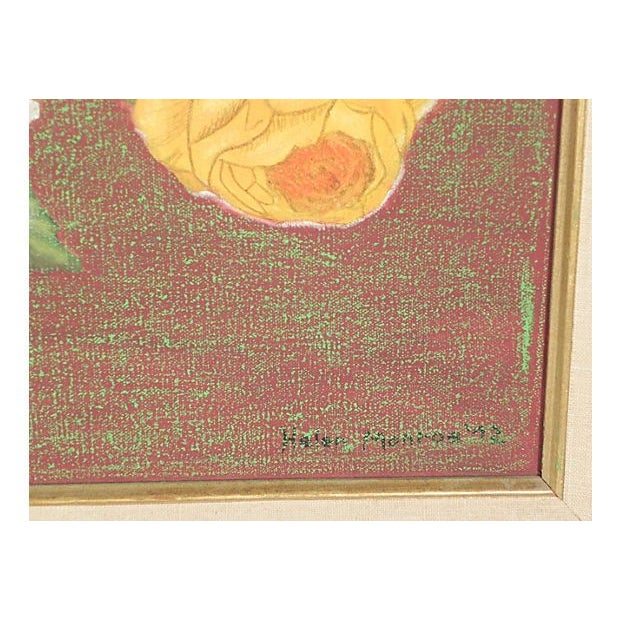 Image of Golden Roses Oil Painting