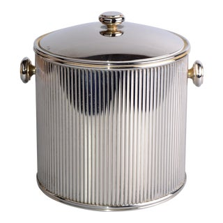 Insulated Silver-Plate Ice Bucket