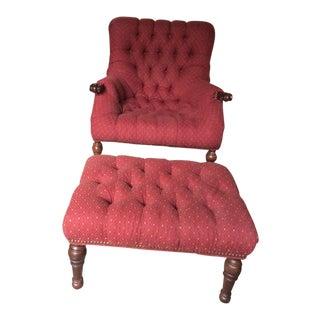 Sleepy Hollow Chair & Ottoman - A Pair