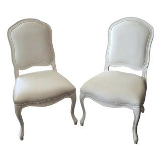 CB2 White Stick Around Side Chairs - Set of 4