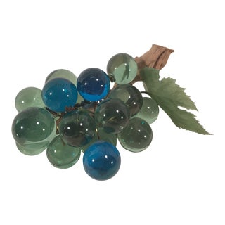 Mid-Century Modern Blue and Green Lucite Grape Bunch