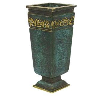 Brass Verdigris Bud Vase