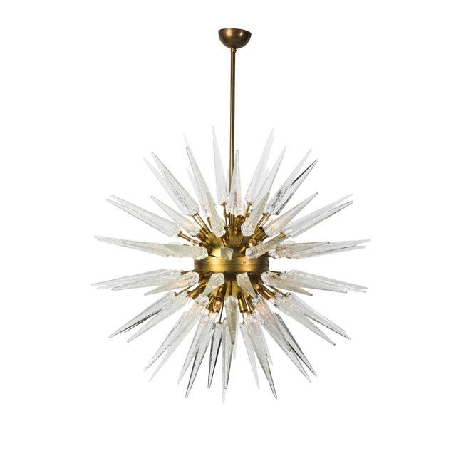 Sputnik Spike Chandelier with Murano Glass - Image 4 of 4