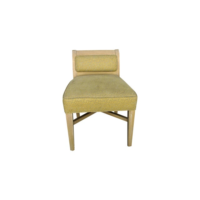 Vintage 1970s X-Form Yellow Vanity Chair - Image 1 of 6