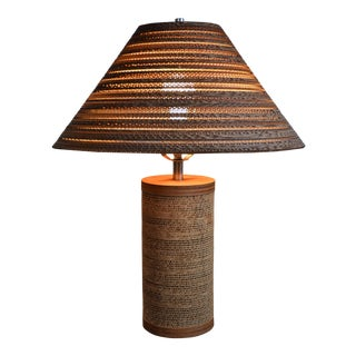 Gregory Van Pelt for Raymor Cardboard Lamp With Shade