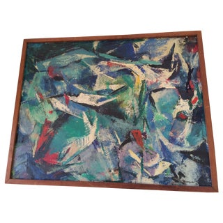 Drucilla Palmer Vintage 1950 Abstract Painting