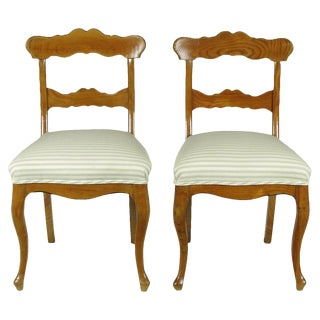 Biedermeier Side Chairs - A Pair