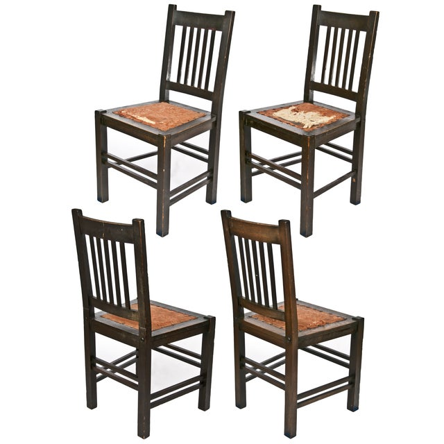 Gustav Stickley Quaint Dining Chairs - Set of 4 - Image 4 of 7
