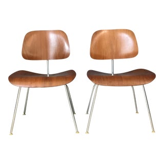 Pair of Eames Bent Plywood Chairs