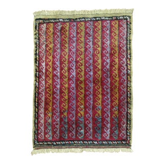Vintage Boho Chic Turkish Rug - 2'3' x 3'