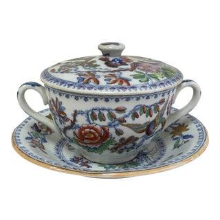 Antique Polychrome Caudle Cup