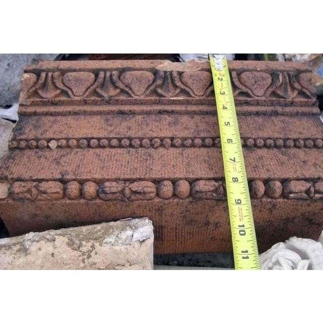 Red Terracotta Stone : Red terra cotta trim stone chairish