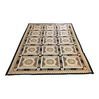 French Hand Woven Aubusson Needlepoint Area Rug - 5′5″ × 9′8″